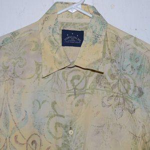 Tommy bahama indigo palms mens shirt size L J937
